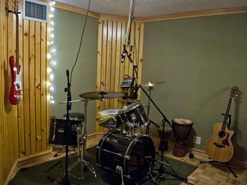 drum set up